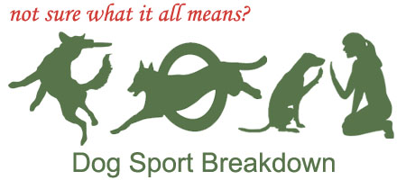 Not sure what it all means? Click here for a Dog Sport Breakdown